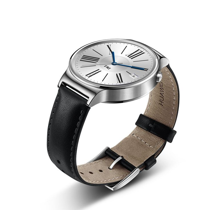Amazon.com: Huawei Watch Stainless Steel with Black Suture Leather Strap (U.S. Warranty): Cell Phones & Accessories