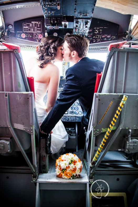 Hamilton Toronto Wedding Photographers Samantha and Jonathan Bauer #Aviation Weddings #Airplanes #Pilot Wedding