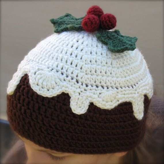 PATTERN Crocheted Christmas Plum Pudding Hat by sandsteeldesigns