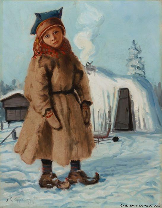 Kyyhkynen, Juho A Lappish Tepee, 1909