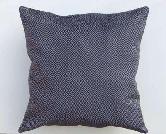 Greyish Blue Throw Pillows : Navy blue and grey Velvet pillow Throw Pillow Decorative velvet pillo?