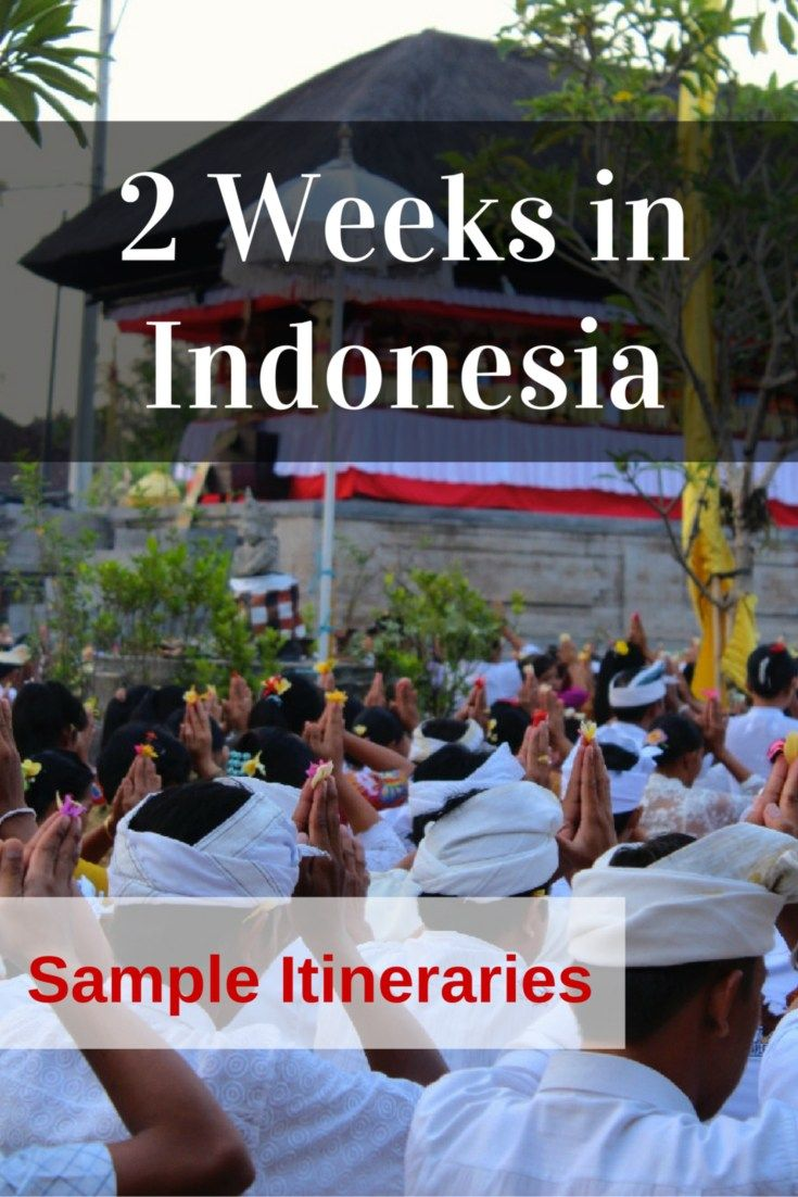 Indonesia itinerary Pinterest