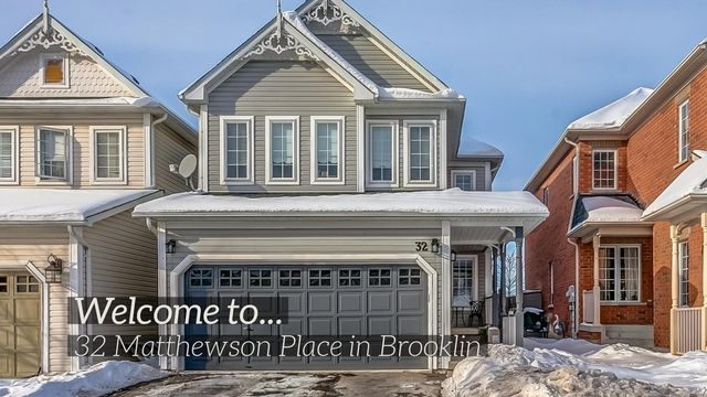 Lifted from the pages of a magazine! Stunning family home located in a highly sought after Brooklin community. Sun filled open concept design & fully renovated in 2017 with gleaming hardwood floors, elegant lighting, smooth ceilings, built-in sound system & more! Dream kitchen with quartz counters, built-in stainless steel Jenn Aire appliances, farmers sink, 2nd sink, gas range, pot filler, massive centre island with breakfast bar & walk-out to the deck & yard! This home has it all!!!