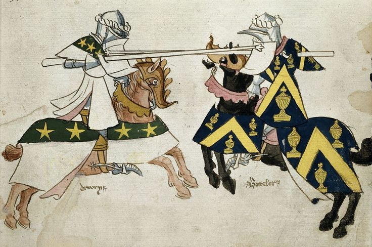 Knights jousting, c.1445-c.1450. The British Library, Public Domain