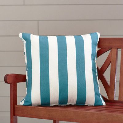 "Wayfair Custom Outdoor Cushions Outdoor Throw Pillow Color: Finnigan Peacock, Height: 22"", Width: 22"""