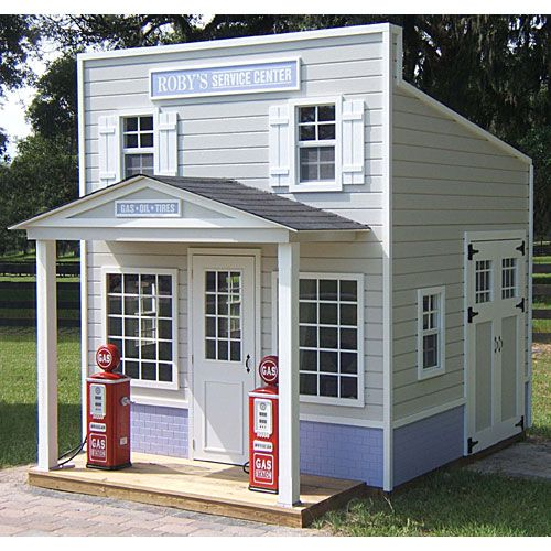 17 best images about playhouses on pinterest outdoor for Wooden playhouse with garage