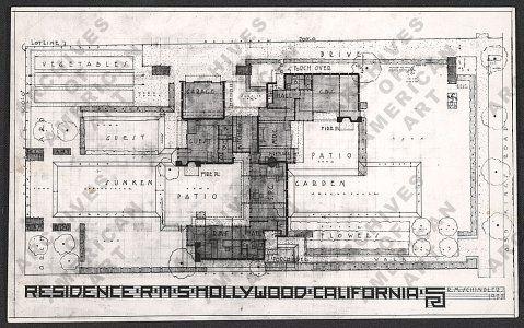 Floor plan of r m schindler 39 s king 39 s road house los for Floor plans los angeles
