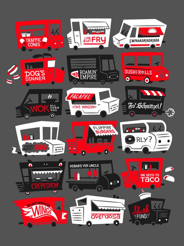 #houseofdesign | Food Truck Illustration by Martin Bregman