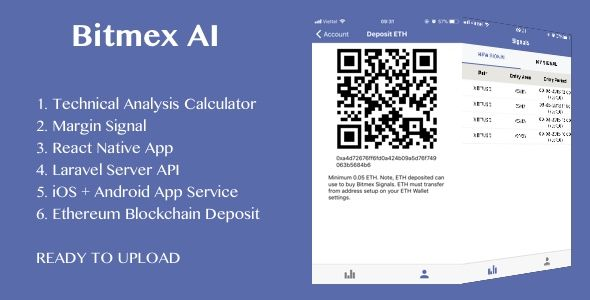 BitMEX Margin Signal AI with React Native android and ios