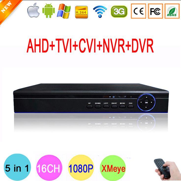 Hi3521A Blue-Ray 16 Channel 16CH 1080P/960P/720P/960H 5 in 1 Coaxial Hybrid CVI TVI NVR AHD DVR Surveillance Video Recorder #men, #hats, #watches, #belts, #fashion