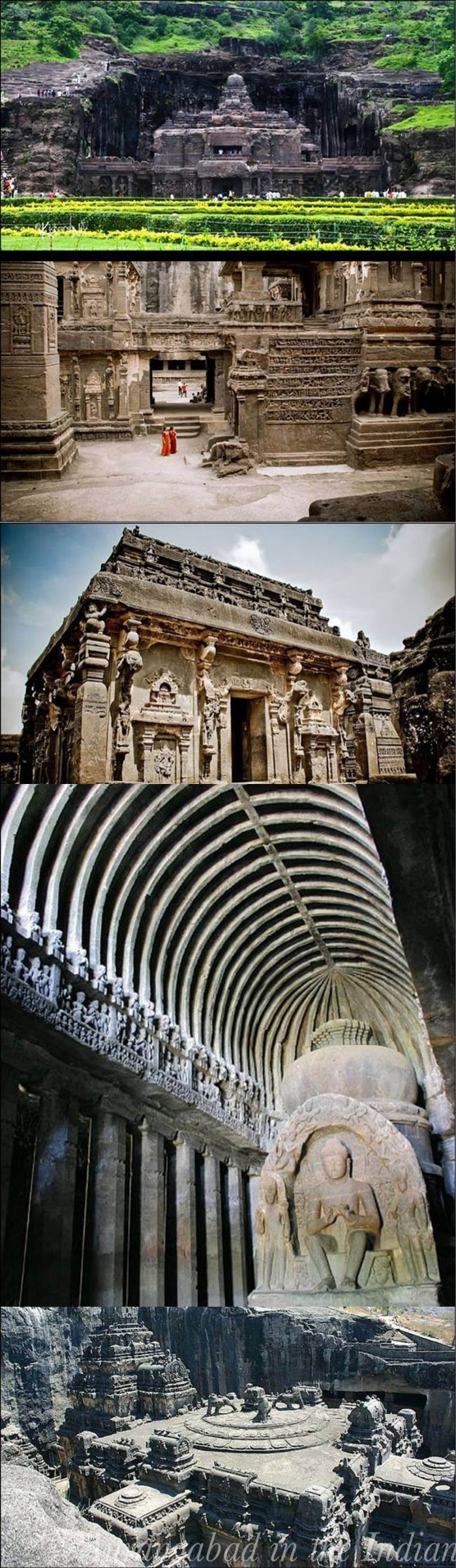 Ellora  also known as Ellooru, is an archaeological site, 29 km  North-West of the city of Aurangabad in the Indian state of Maharashtra built by the Rashtrakuta dynasty. Well known for its monumental caves, Ellora is a World Heritage Site. Ellora represents the epitome of Indian rock-cut architecture