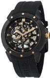 Stuhrling Original Men's 539.33561 Leisure Gen-X Crucible XT Automatic Skeleton Black Rubber Strap Watch