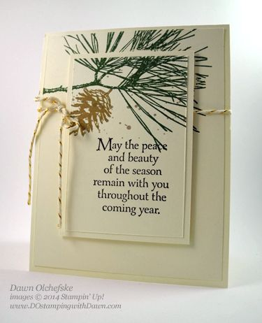 Stampin' Up! ... handmade Christmas card ... Ornamental Pine ... floating frame gives the look of a panel without the bulk of a whole layer ... like it!