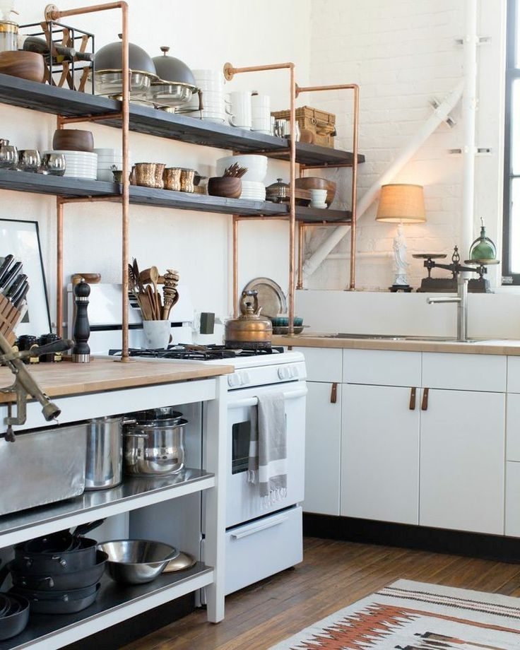 copper piping kitchen
