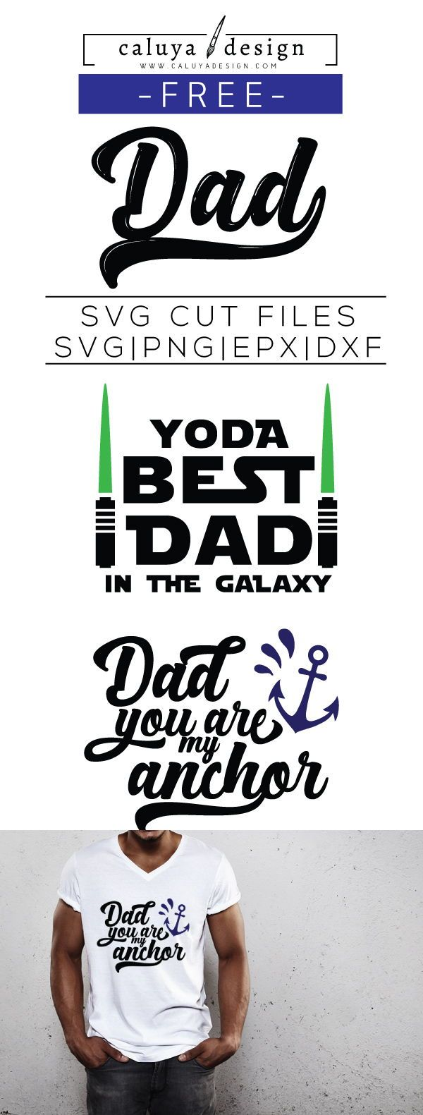 FREE SVG Cut File Father's Day quote. Yoda Best Dad SVG cut file. Printable ...