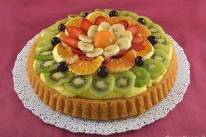 Crostata morbida alla frutta, torte, dolci, dessert