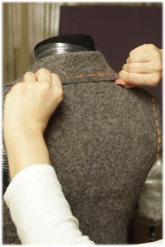 Tutorial by LubaV Collars in felted garments Немного о воротниках - Ярмарка Мастеров - ручная работа, handmade