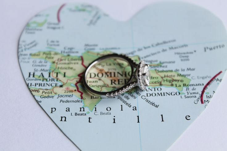 A DIY two hearts become one mapped hearts. Where he's from, where I'm from, and where we're getting married.
