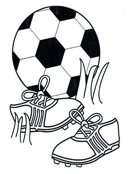 Voetbal Schoenen Kleurplaat