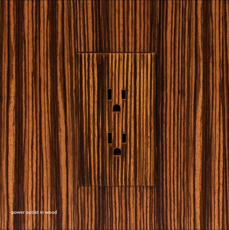 no more protruding faceplates required flush receptacle in a wood panel by trufig media electronics pinterest wall plug hardware and woods