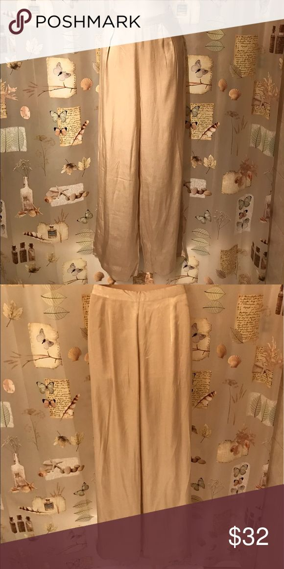 Silk cream color dress pants. Beautiful silk cream color dressy pants. Great condition. Forever 21 Pants Trousers