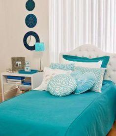 quarto azul turquesa                                                                                                                                                      Mais