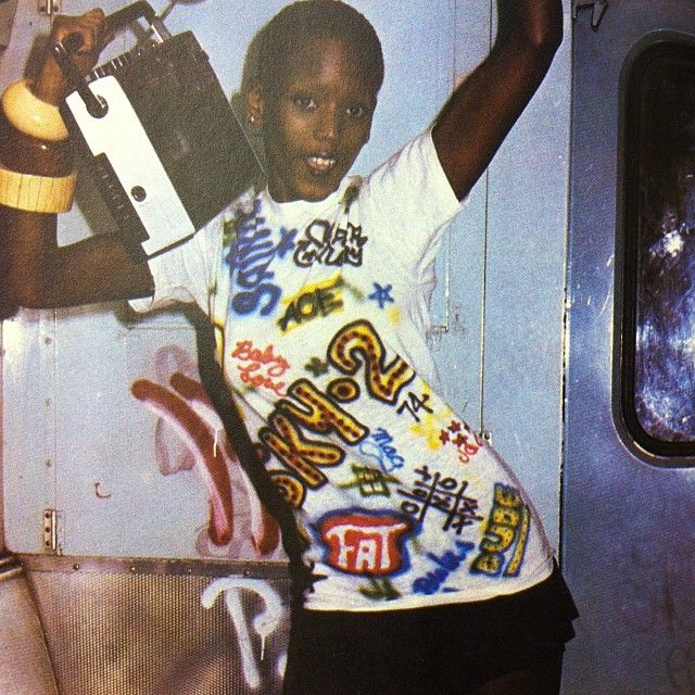 toukie smith seen here in ny. in a tshirt!