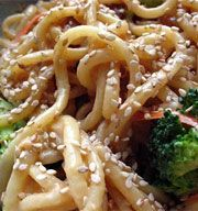 Sesame Udon Noodles | Dinner | Pinterest