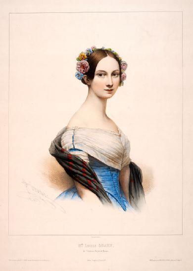 Ballerina Lucile Grahn (1845).