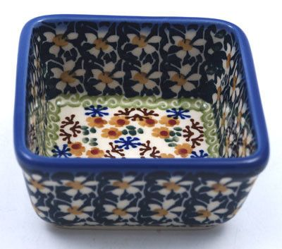 "3.5"" Square Baker (Irish Spring) from The Polish Pottery Outlet"