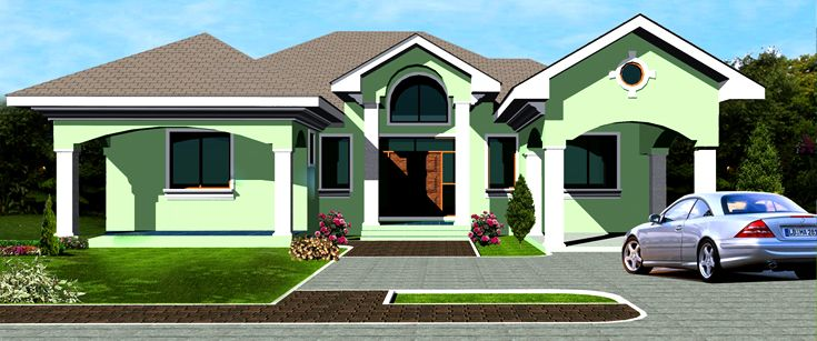 Ohene house plan ghana architects ghana house plans for Three bedroom house plan in ghana