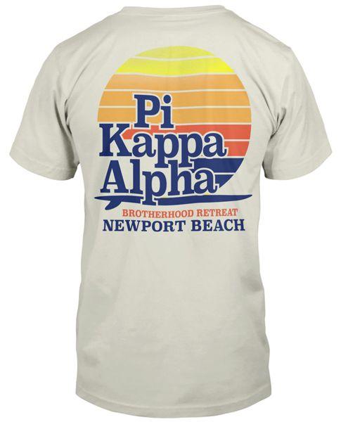 Pi Kappa Alpha Surf T-shirt Fraternity Rush T-shirt   Greek T-shirt   Greek Life…