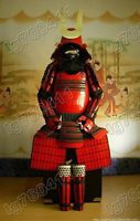 ★ Japanese Iron & Silk Rüstung Art wearable Samurai Armor Red ★