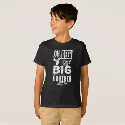 Oh Deer I Am Going To Be A Big Brother T Shirt