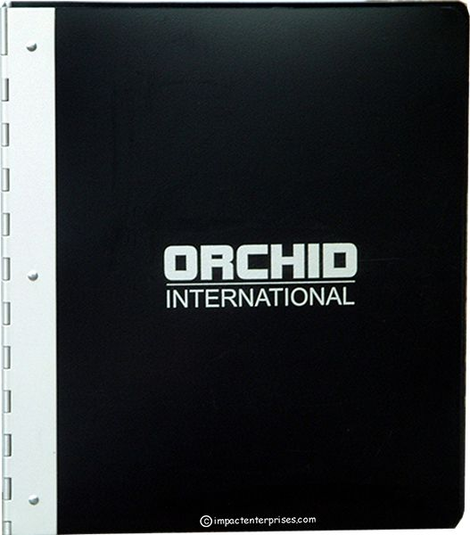 Find here #stylish_presentation_binders which are manufactured from a heavy gauge black poly featuring an aluminum piano hinge spine and decorated with screened artwork.  Checkout our website for more: https://impactbinders.com/poly-binder-covers/orchid-detail  Call us: 1-845-988-1900 (NY) 1-702-450-4133 (Las Vegas)