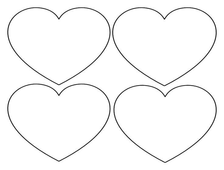 Free Printable Heart Templates â Large, Medium & Small