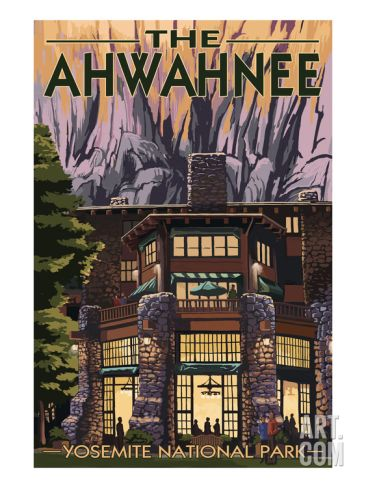 The Ahwahnee - Yosemite National Park - California Print by Lantern Press at Art.com