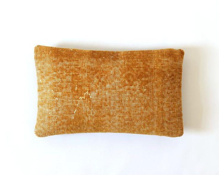 Best Kilim Pillow 12X20 Case Overdyed Pile Rug 30X50 Lumbar 400 x 300