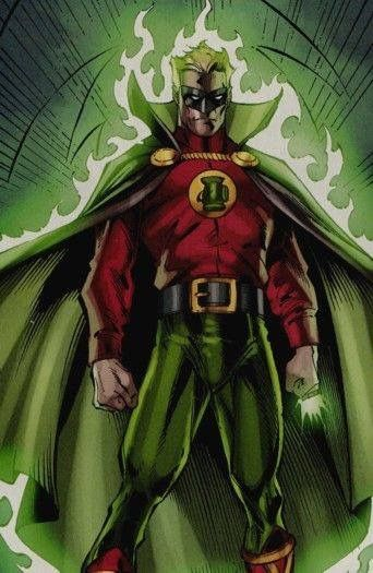 Golden Age Green Lantern Alan Scott of the JSA