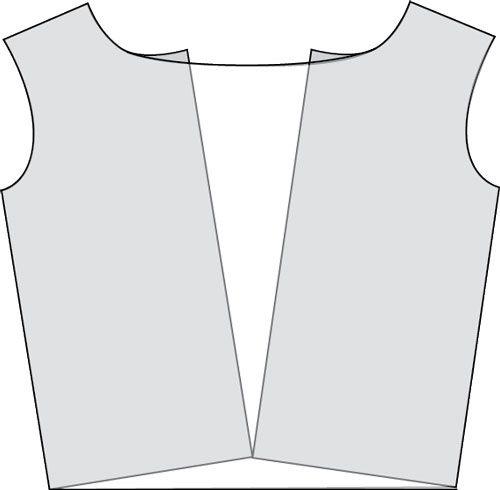 Waterval hals makes uit tshirt patroon