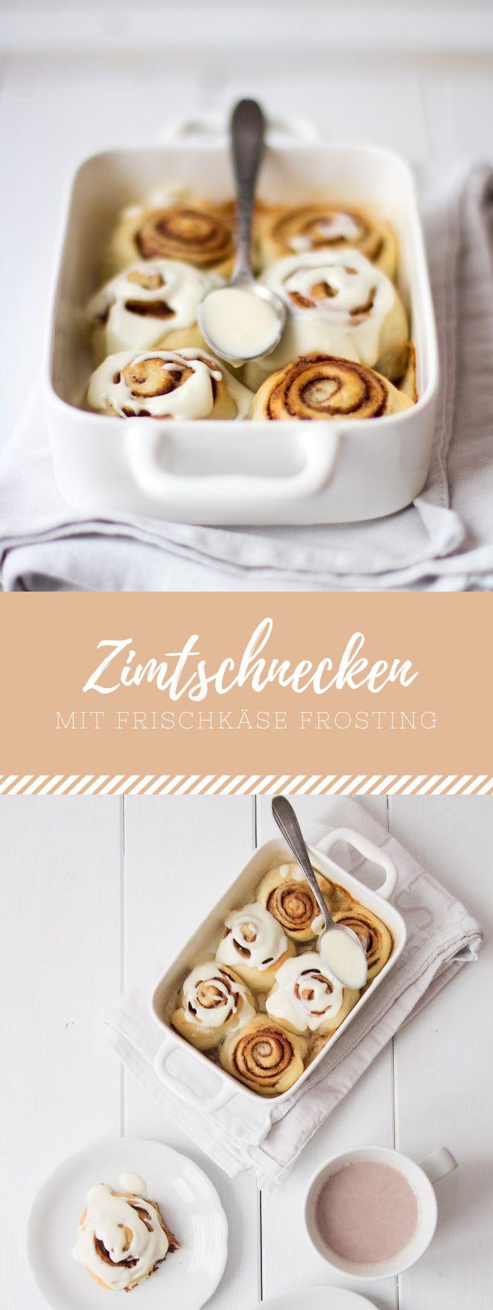 Schnelle Zimtschnecken mit Frischkäse Frosting nach schwedischem Rezept