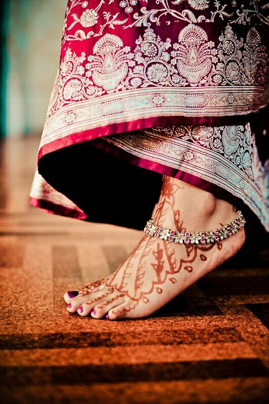 #indian #weddings #jewelry #anklet #mehndi #henna