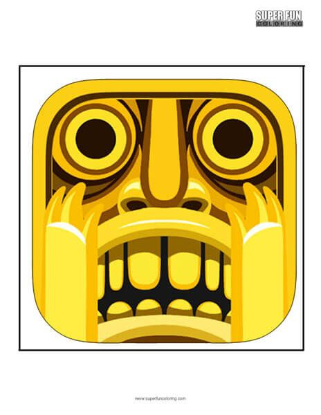 Temple Run App Coloring Page Android Iphone Super Fun Coloring