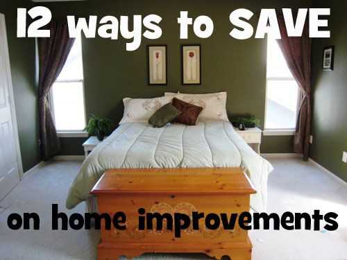 12 Ways to save on home improvements - Cheap paint & other ideas