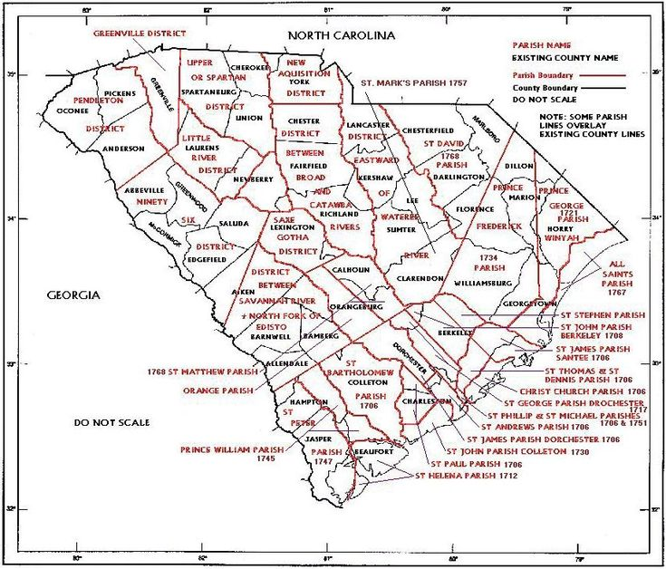 Best US South Carolina Genealogy Images On Pinterest - Us map 1790 north and south