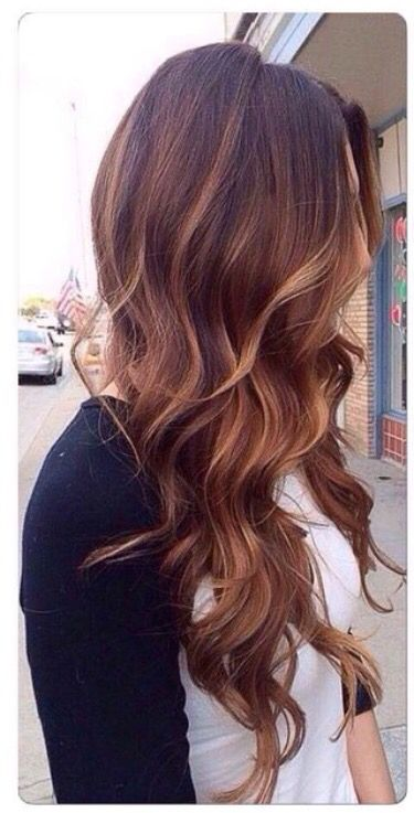 Carmel brown hair