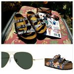 LUV that Birkenstocks are back! LUV this pair of $90 Papillio Florida Birkenstock sandals!  LUV classic $150 Ray-ban Aviator Sunglasses! Details on likethatluvthis.com