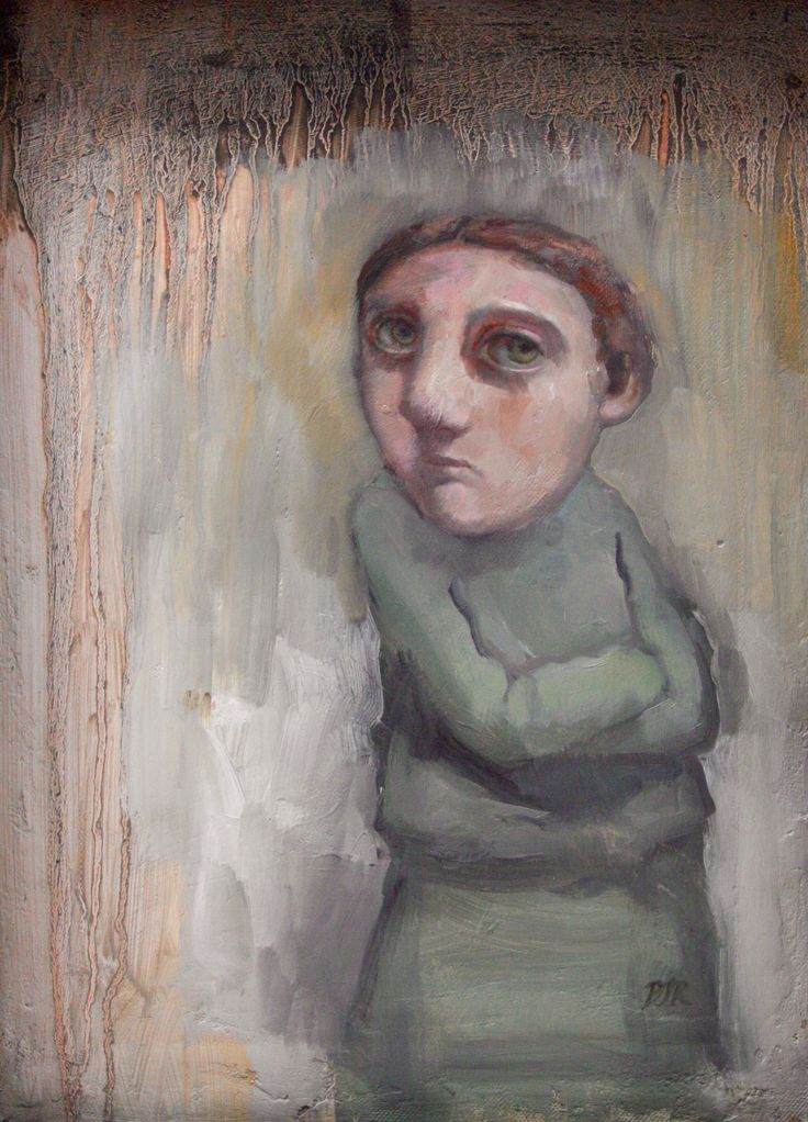 Study of girl in green, B. Russon