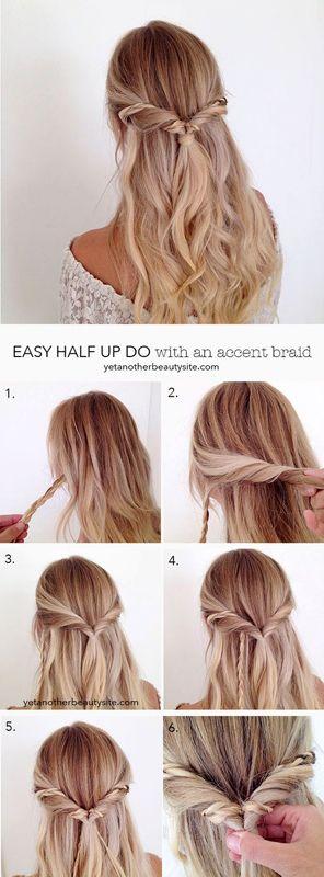 Un tuto coiffure d'une attache sur cheveux lâches.