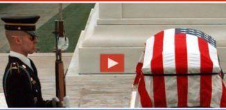 2 Men Laugh At Soldier Memorial, Watch This Guard Set Em Straight